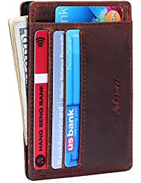 Minimalist Mens Wallet RFID Front Pocket Wallet Secure...