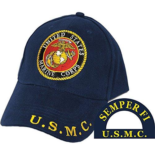 - United States Marine Corps Eagle Globe & Anchor Hat Black