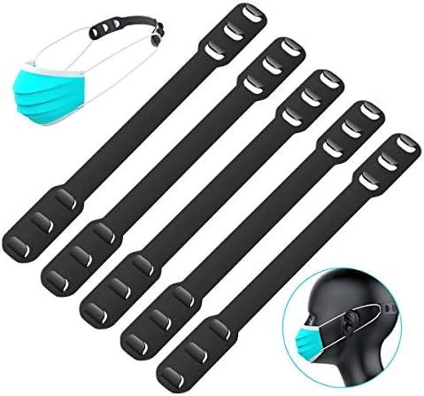 10 PCS Mask Extender, Maskenhaken Anti-Tightening Ear Protector Dekompressionshalter Haken Ohrriemen Zubehör Maske(Schwarz)