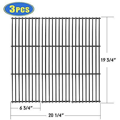 """XHome Grill Grate 19 3/4"""" Grill Replacement Parts 19 inch Cooking Grid for Chargriller 5050, 5252, 4000, 3001, 3008, 3030, King Griller 3008 5252 , Porcelain Steel(3 Pack ,19 3/4"""" x 6 3/4"""")"""