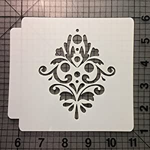 Damask Stencil 126 (1 Inches)