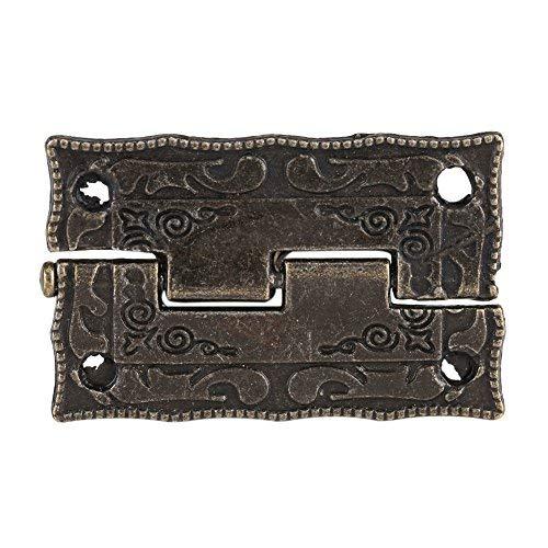 10pcs bronze rétro charnières de porte cabinet boîte à bijoux antiques meubles de bois décoratifs charnière de porte l'affaire Zerodis