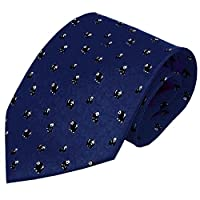 [Mini Panda] Chinese Style Men Ties Handmade Neckties Boys Cheap Ties,Navy,57''
