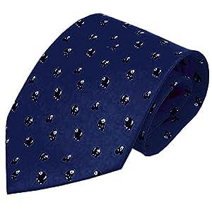 [Mini Panda] Chinese Style Men Ties Handmade Neckties Boys Cheap Ties,Navy,57''