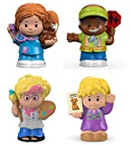 Set of 4: Fisher-Price Little People Singles - Artist, Librarian, Veterinarian, Crossing Guard