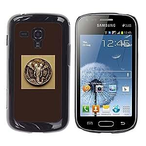 EJOY---Cubierta de la caja de protección la piel dura para el / Samsung Galaxy S Duos S7562 / --Ganesh Dios Elefante