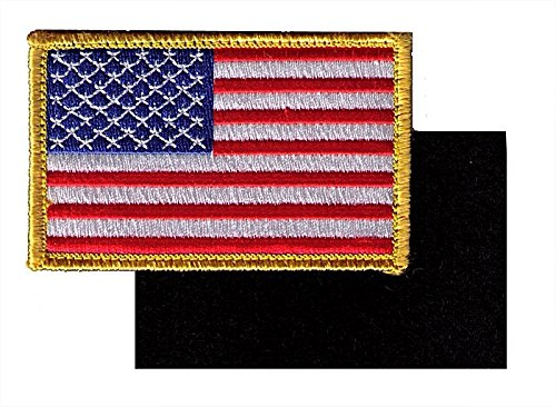 Pennant Patch - Full Color US Flag Embroidery Patch with Hook/Loop Backing