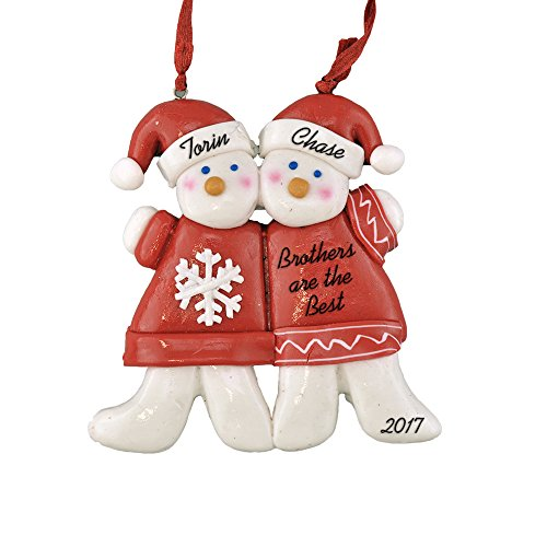 Ornament Personalized Big Brother (Brothers, Best Friends, Twins Personalized Ornament - Calliope Designs - 4