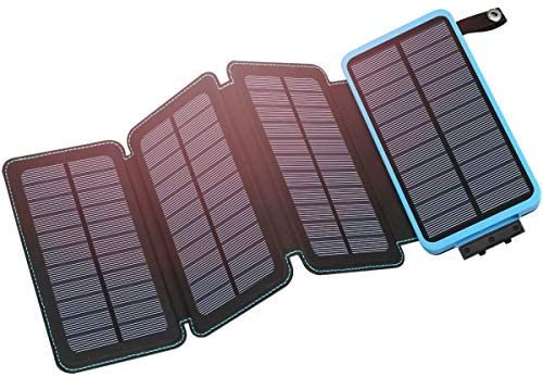 Hiluckey Solar Charger 25000mAh Portable Solar Power Bank Waterproof Battery Packs with Dual Ports Solar Phone Charger for iPhone