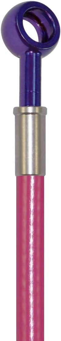 Transparent Red Hose /& Stainless Black Banjos Pro Braking PBC7722-TRD-BLA Braided Clutch Line