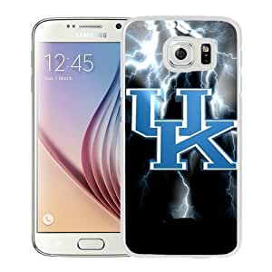 Fashionabe Samsung Galaxy S6 Case ,Popular And Unique Designed Case With Southeastern Conference SEC Football Kentucky Wildcats 4 White Samsung Galaxy S6 Cover Phone Case