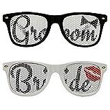 Chades Wedding Bride and Groom Sunglasses Set