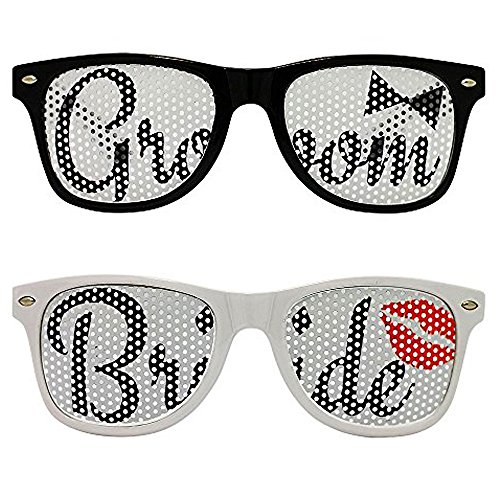 Chades Wedding Bride and Groom Sunglasses Set]()