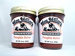 Mrs. Miller\'s Amish Homemade Pumpkin Butter 8 Oz. - Pack of 2 (Boxed)