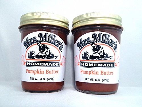 Mrs. Miller's Amish Homemade Pumpkin Butter 8 Oz. - Pack of 2 (Boxed) (Pretzels Pumpkin)
