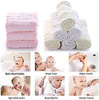 Muselina bebe algodon, Toallas suaves de muselina para bebés, varias funciones (10 paquete A) (10 piezas B): Amazon.es: Bebé