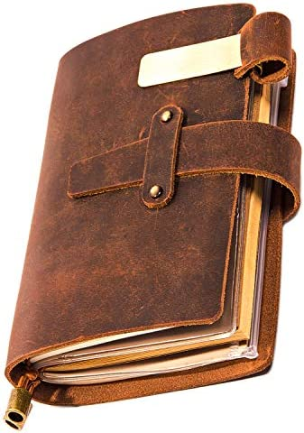 Genuine Leather Notebook Scrapbook Zippered product image