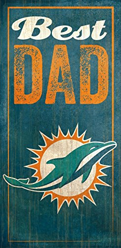 Fan Creations Miami Dolphins Best Dad Sign, Multicolored ()
