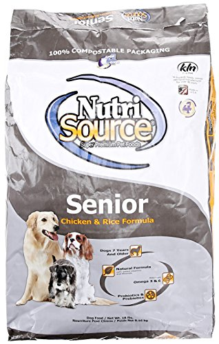 Nutrisource, Dry Dog Food, Senior Chicken Rice Formula, 18 lb