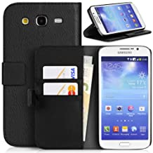 Topratesell Structure Plus Wallet Case for Samsung Galaxy Mega 5.8 Gt-i9150/gt-i9152 with Credit Card Pockets and Stand-up Feature (Black)