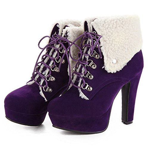 Up Purple Moda Stivali Donna Coolcept Lace wC04xq