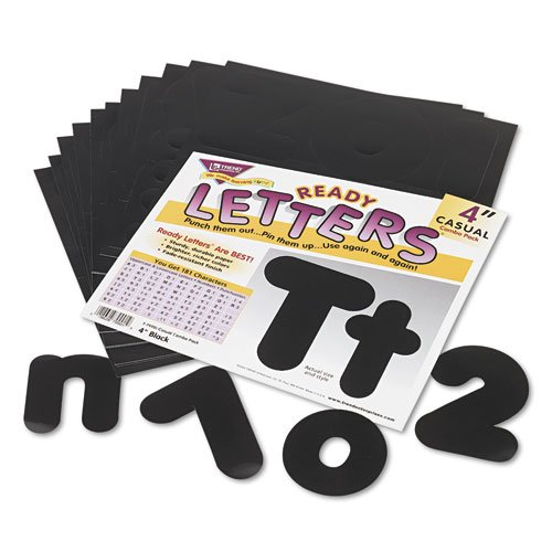 Ready Letters Casual Combo Set, Black, 4''''h, 182/Set, Sold as 182 Each by TREND Products