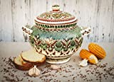 Decorative clay ceramic handmade soup tureen kitchen tools and utensils