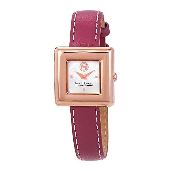 Reloj de Pulsera para Mujer con Esfera de nácar de San Honor Gala, Color Blanco 717001 8YIR-BF: Amazon.es: Relojes