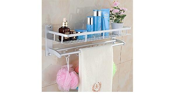 ... Towel Rack Holder Wall Storage Shelf BML Brand // Aluminio espacio en las estanterías de rack de almacenamiento de pared toallero baño en : Baby