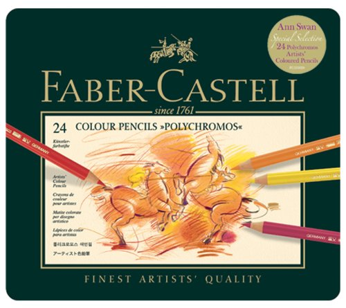 Faber-Castell Polychromos Tin Of 24 Colour Pencils (Ann Swan Selection)
