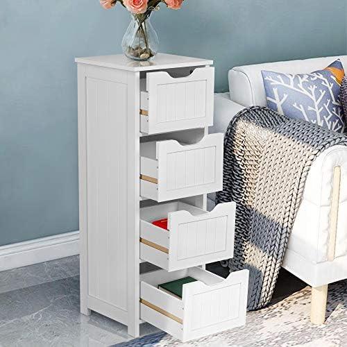 home, kitchen, furniture, accent furniture,  storage cabinets 5 image Yaheetech Bathroom Floor Cabinet, Wooden Side Storage Organizer deals