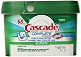 Cascade Complete Action Packs with The Power of Clorox Dishwasher, Detergent Fresh, 42 Count
