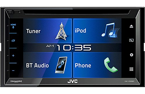 JVC KW-V330BT Multimedia Receiver featuring 6.8 Clear Resistive Touch Panel, Bluetooth, 13-Band EQ