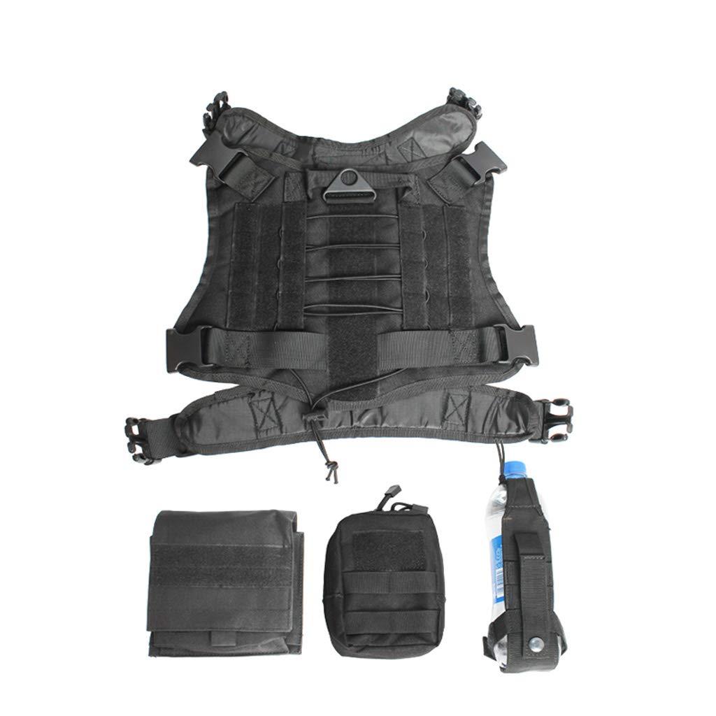 45-60CM MCLD Dog Chest Back, Black Outdoor Travel golden Wolf Dog Dog Chest Strap Dog Clothes Vest Traction Rope (Size   45-60CM)