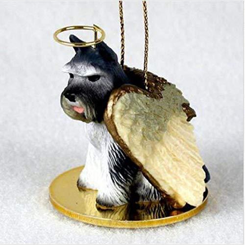 1 X Schnauzer Angel Dog Ornament - Gray