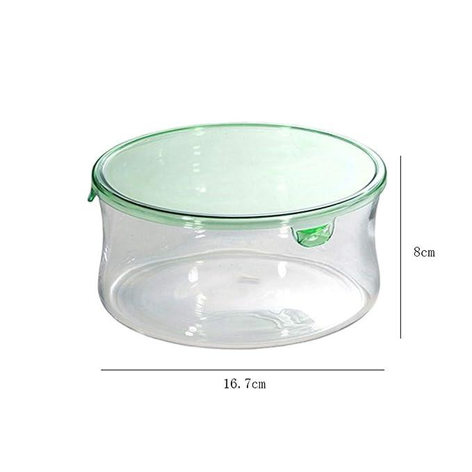 Mling Cristal Caja de Almuerzo;Resistente al Calor de Vidrio ...