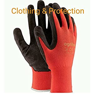 24 PAIRS NEW LATEX COATED WORK GLOVES SAFETY DURABLE GARDEN GRIP BUILDERS (L - 9)