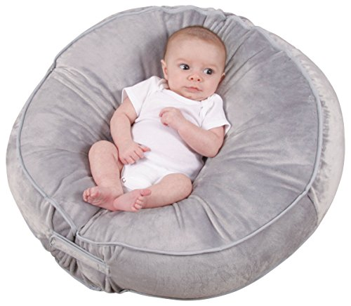 Leachco-Podster-Plush-Sling-Style-Infant-Lounger-Gray
