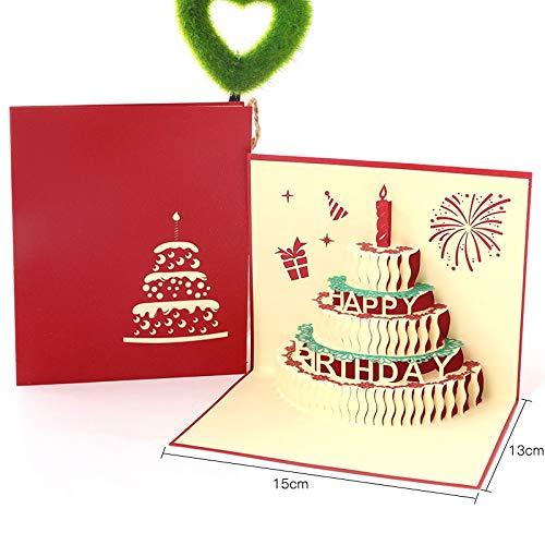 Happy Birthday Postcard Greeting Gift Cards Blank Paper 3D Handmade Pop Up Laser Cut Vintage Invitations Custom with Envelope]()
