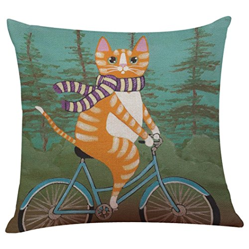 Price comparison product image Clearance!Napoo Cute Cat Pattern Pillow Case Cushion Cover For Sofa Bed Home Festival 43cm43cm (V)