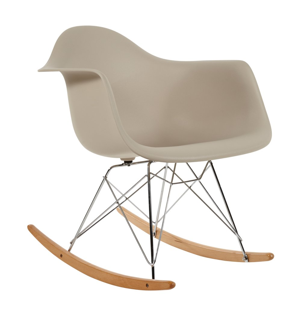 Charles Eames Style RAR Plastic Rocking Chair - Beige  Amazon.co.uk   Kitchen   Home e7099d237c28