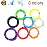 3D Pen Filament Refills,Sourcingbay 3D Printer Filament ABS 1.75mm Pack of 8 Different Colors Each in 32Foot Lengths Rapid Prototyping No Peculiar Smell for 3D Printing/Drawing Pen