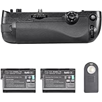 Neewer Infrared Remote Control Vertical Battery Grip Replacement for MB-D16 with 2 pieces of EN-EL15 Replacement Battery pack for Nikon D750 DSLR Camera