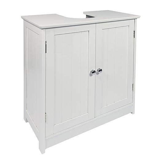 Woodluv Under Sink Bathroom Storage Cabinet, White: Amazon.co.uk ...