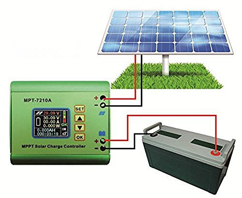 Solar Controller Charge Controller MPT-7210A Aluminum Alloy LCD Display MPPT Solar Panel