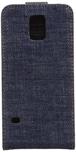 QIOTTI QX-F-0110-01-SGS5 Flipcase Q.Flip Denim Premium Echtleder für Samsung Galaxy S5/S5 Neo blau
