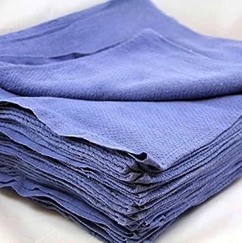 RP nueva 50pcs Azul Cristal Limpieza tienda 100% algodón toalla azul Huck toallas de gamuza