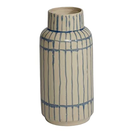 Amazon Ethan Allen Jiro Modern Striped Vase Ceramic Striped