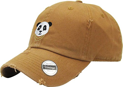 68d2fd07e02 Galleon - KBETHOS KBSV-056 Tim Panda Vintage Distressed Dad Hat Baseball  Cap Polo Style