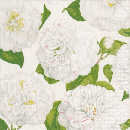 Wedding Napkins Holiday Party Christmas Party Paper Dinner Napkins Camellia Ivory Pk 40